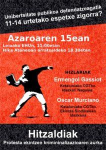 CGT 15-11-2016 euskera hikaateneo Bilbao