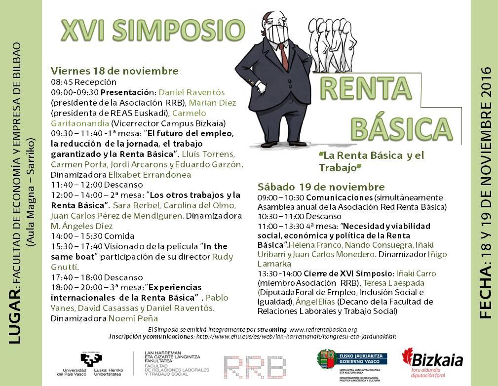 renta basica simposio Bilbao