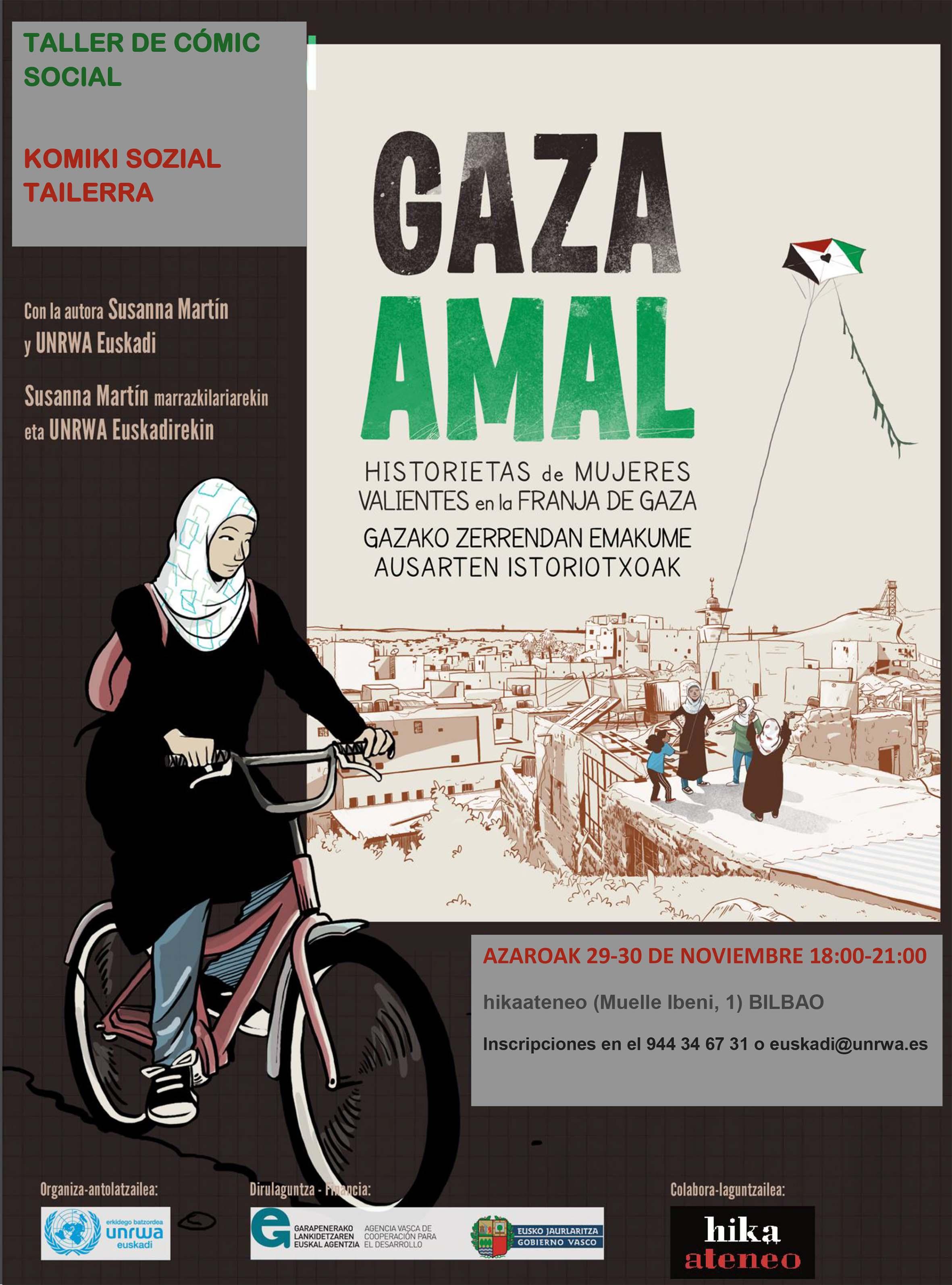 taller comic hika UNRWA Susanna