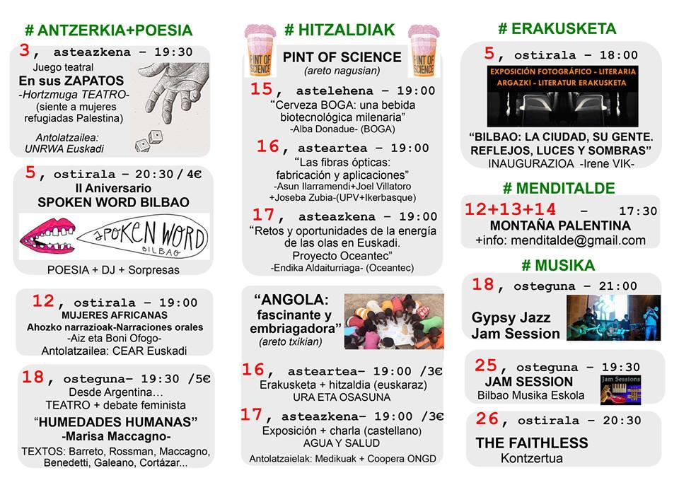 Agenda Hika Ateneo Bilbao Maiatzak 2017 Mayo