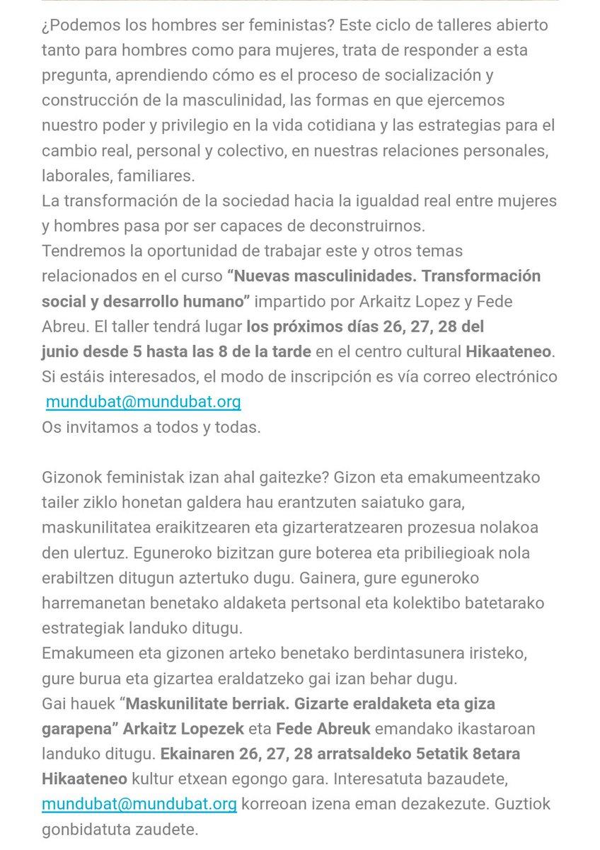 Taller Marculinidad Bilbao