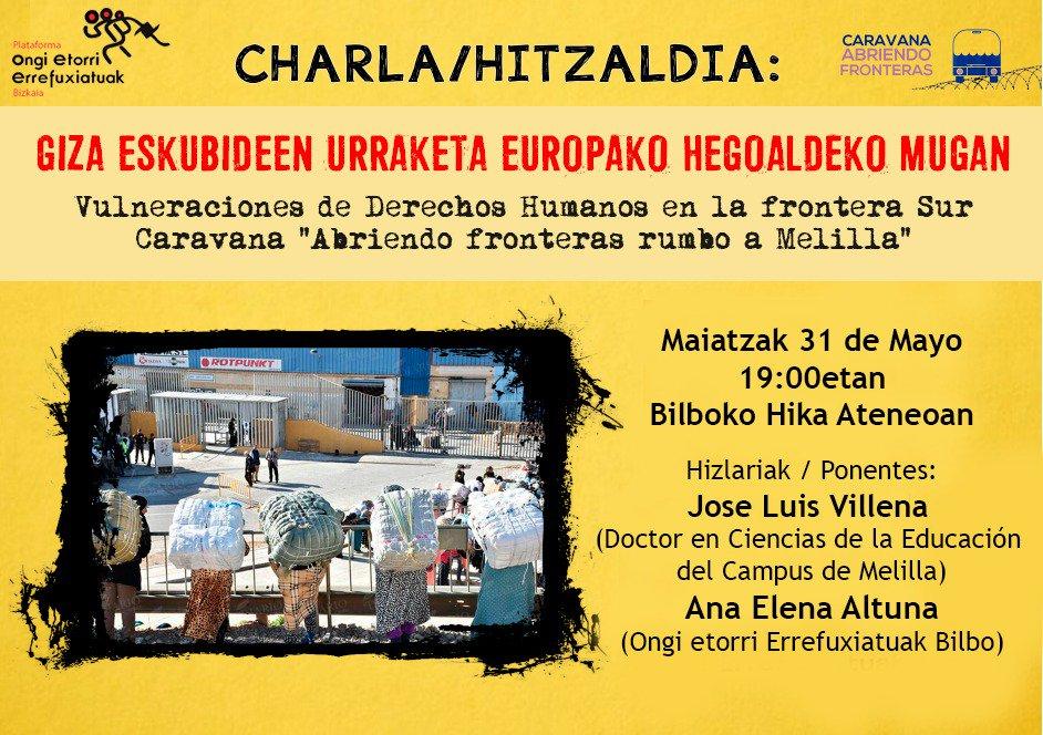 Ongi Etorri Errefuxiatuak Melilla Bilbao