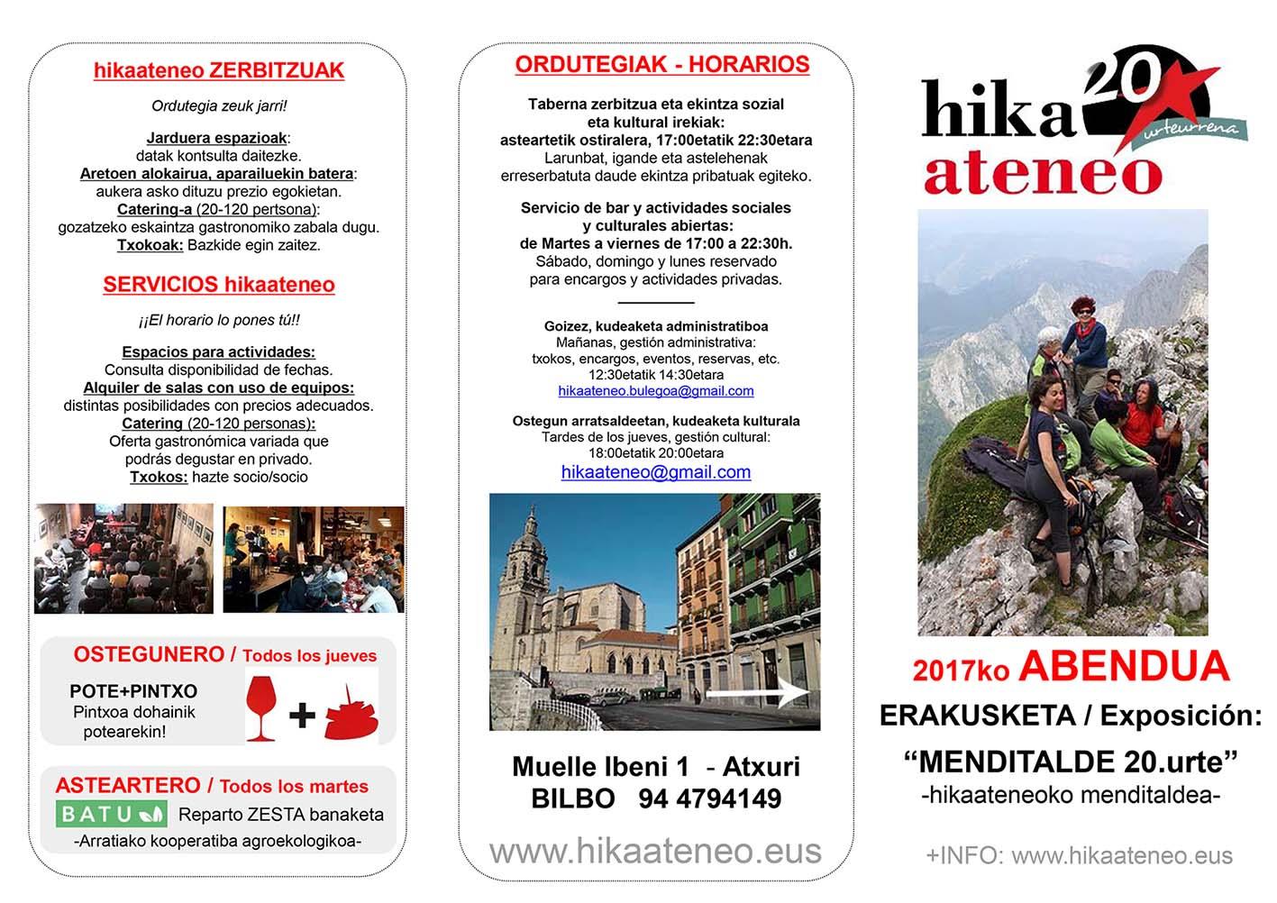 Agenda Hika Ateneo Bilbao Abendua 2017 Diciembre