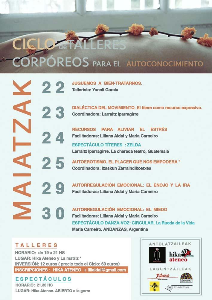 Ciclo Talleres Corporeos Bilbao