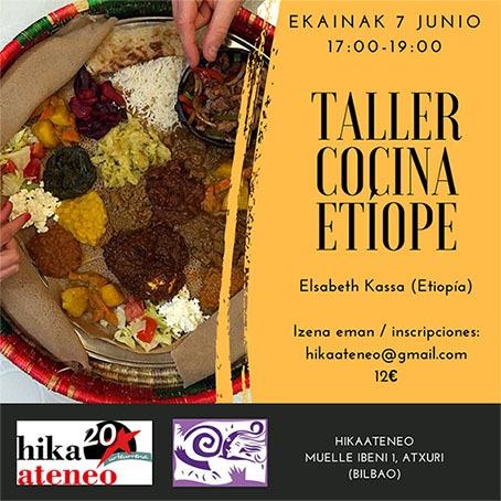 Etiopia taller Cocina hikaateneo bilbao