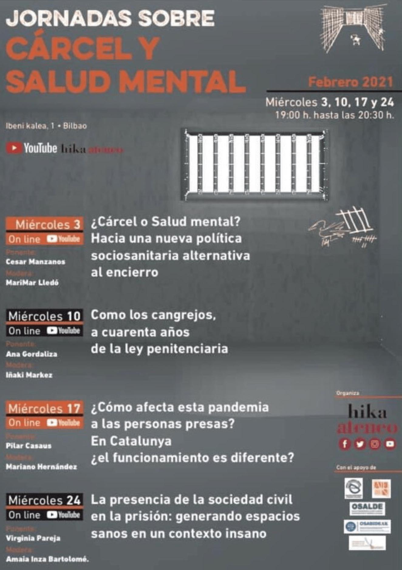 jornadas sobre cárcel y salud mental