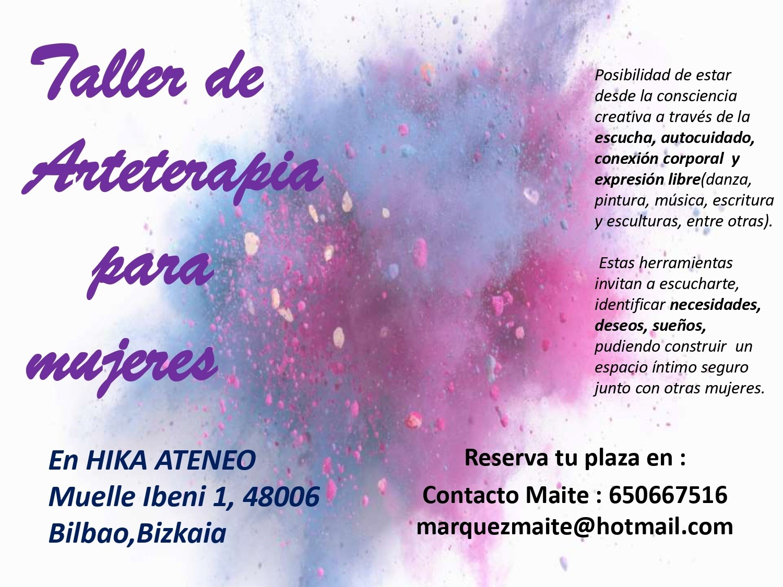 Cartel Arteterapia Hika Ateneo
